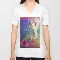 olivia joy V-neck T-shirts featuring Flowers of my joy by Victoria Herrera