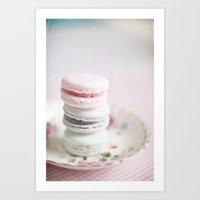 macarons Art Prints featuring Macarons by Photography by Karin A