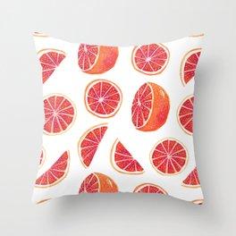 Watercolor Blood Orange Throw Pillow