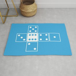 Blue Unrolled D6 Rug