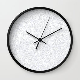 Embossed Powder & Pearl Lace Wall Clock