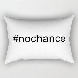 #Nochance - funny, play on words, social media humour Rectangular Pillow