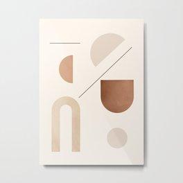 Minimal Geometric Shapes 92 Metal Print
