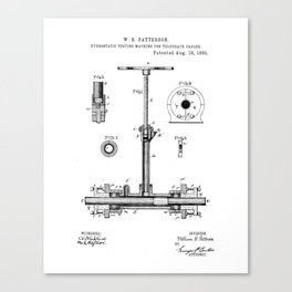 Hydrostatic Testing Machine for Telegraph Cables Vintage Patent Hand Drawing Canvas Print