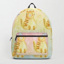 Watercolor Orange Cat Backpack