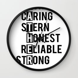 Fathers Day Gifts Father Funny Caring Stern Honest Reliable Strong Wall Clock
