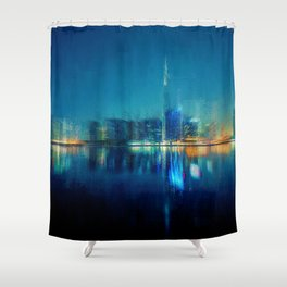Night of the City Shower Curtain