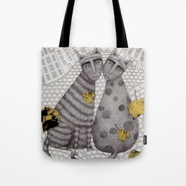 Two Cats Without Hats Tote Bag