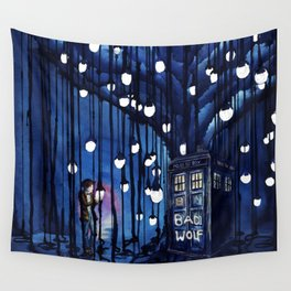 Tardis Art Of The Journey Wall Tapestry
