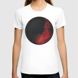 Black Lava on White T-shirt