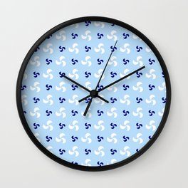 spiral 32- blue Wall Clock