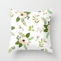 flower pattern Throw Pillows featuring Flower Pattern by Jenna Davis Designs
