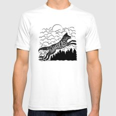 WILD BEAST White Mens Fitted Tee SMALL