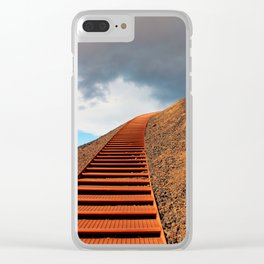 Stairway to Saxholl Crater, Iceland Clear iPhone Case