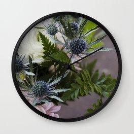 Eryningum in Blue     Fresh Cut Flowers Wall Clock