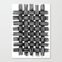 Woven Ink Canvas Print