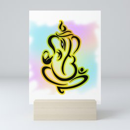Multi Colored Lord Ganesha Mini Art Print