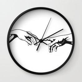 Adam and God hands Wall Clock