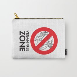 Vegan Free Zone Carry-All Pouch