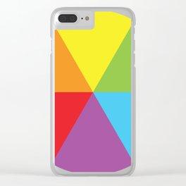 rainbow colour wheel Clear iPhone Case