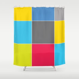 Colors and Squares Shower Curtain