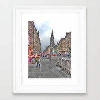 edinburgh Framed Art Prints featuring Edinburgh by Christine Workman