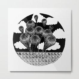 """Inktober, Day 17 """"Swollen"""" #inktober #inktober2018 Metal Print"""