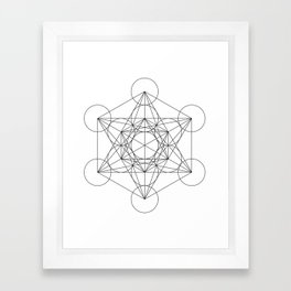 Sacred Geometry : Metatron's Cube / The Map of Creation Framed Art Print