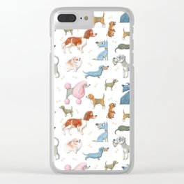 All About Dogs Clear iPhone Case