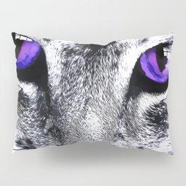 Purple eyes Cat Pillow Sham