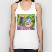 pablo picasso Tank Tops featuring Picasso Sheep by BeeHappy