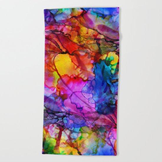 Colour Chaos Beach Towel