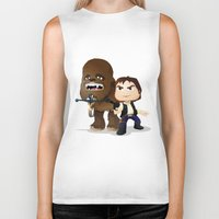 han solo Biker Tanks featuring Han Solo & Chewbacca by 7pk2 online