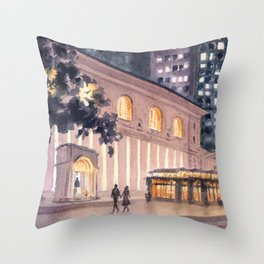 Bryant Park By Night Throw Pillow