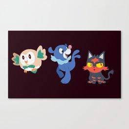 7th Gen Starters Canvas Print