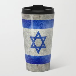 Flag of the State of Israel - Distressed worn patina Travel Mug