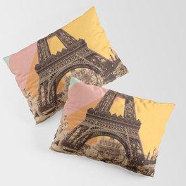 Rainbow Sky Above The Eiffel Tower Pillow Sham