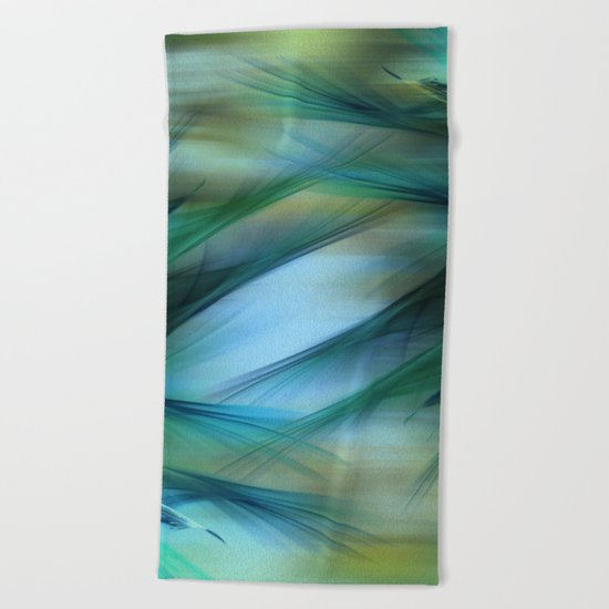 Soft Feathered Lights Abstract Beach Towel