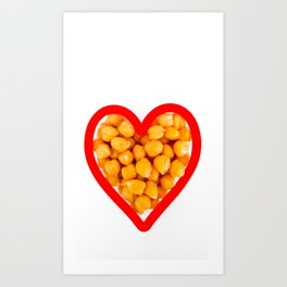 Chickpea heart Art Print