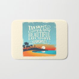 Crazy & lazy Summer Bath Mat