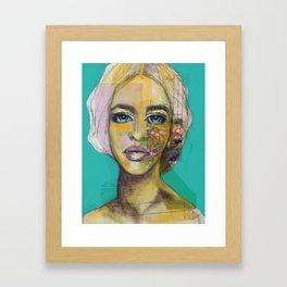 Bea Turquoise Framed Art Print