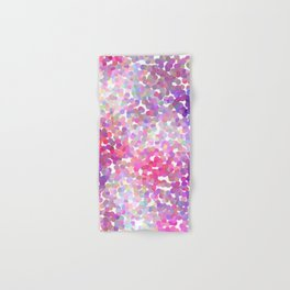 Pink and Purple Galaxy Confetti Hand & Bath Towel