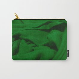 Green Velvet Dune Textile Folds Concept Photography Carry-All Pouch