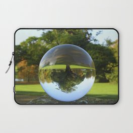 Old Park Tree, crystal ball / Glass Ball Photography Laptop Sleeve