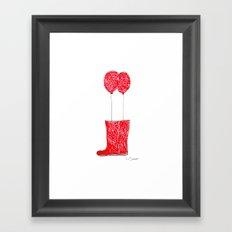 balloon boots Framed Art Print