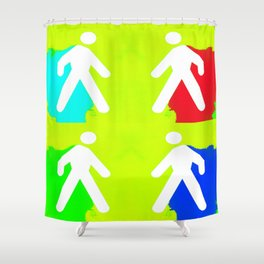 Super heroes Shower Curtain