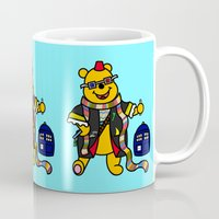 pooh Mugs featuring Doctor Pooh by Murphis the Scurpix