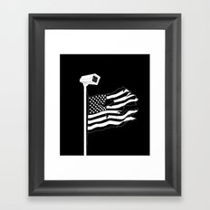 And the star-spangled banner in triumph shall wave Framed Art Print