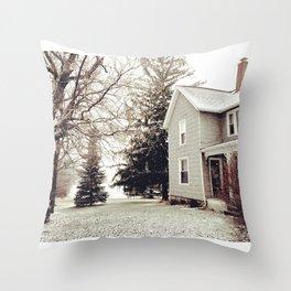 Winter Wonderland in Michigan Throw Pillow