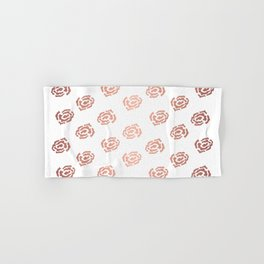 Rose Gold Roses Hand & Bath Towel